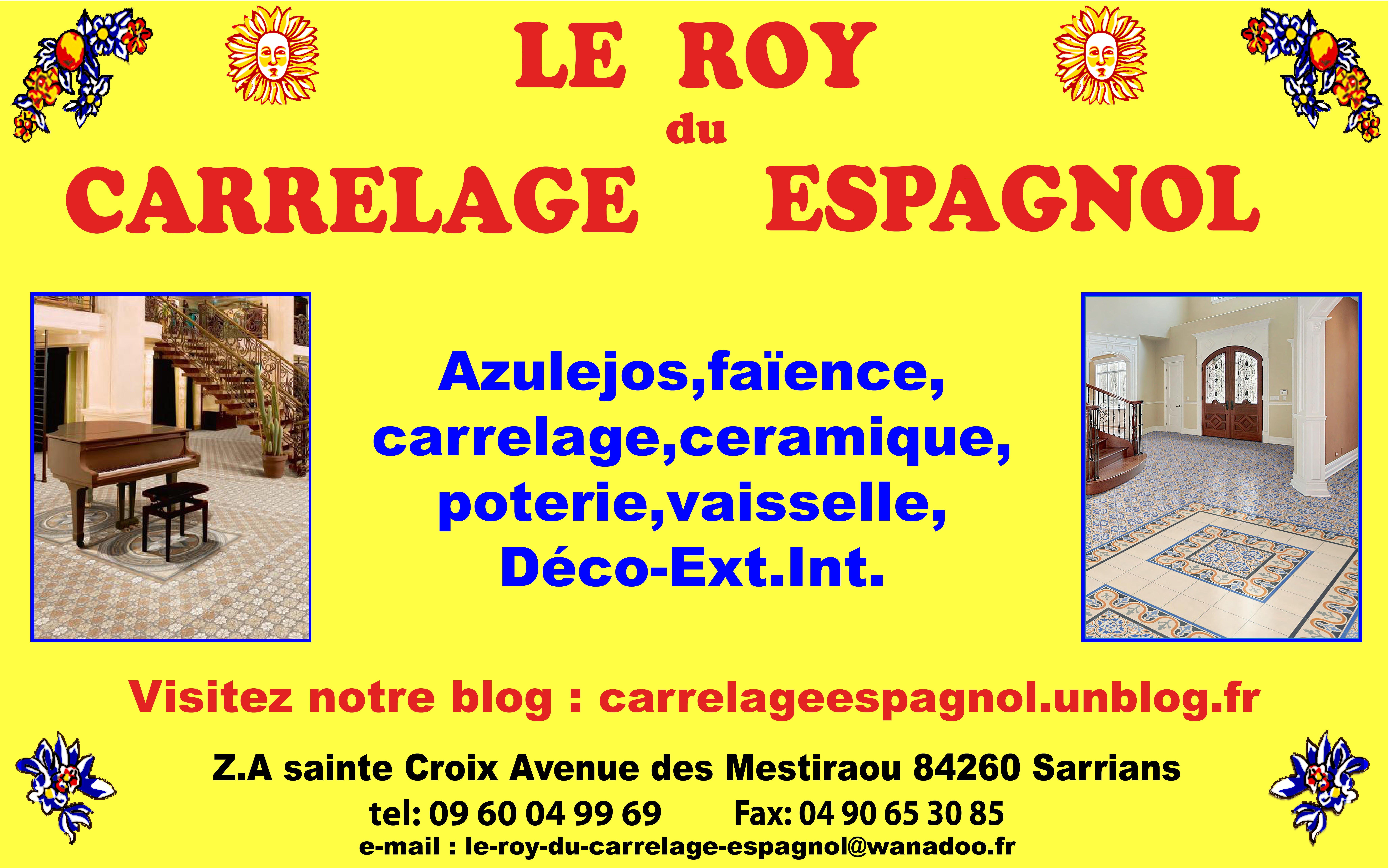 Sarl le roy du carrelage espagnol azulejos for Carrelage espagnol